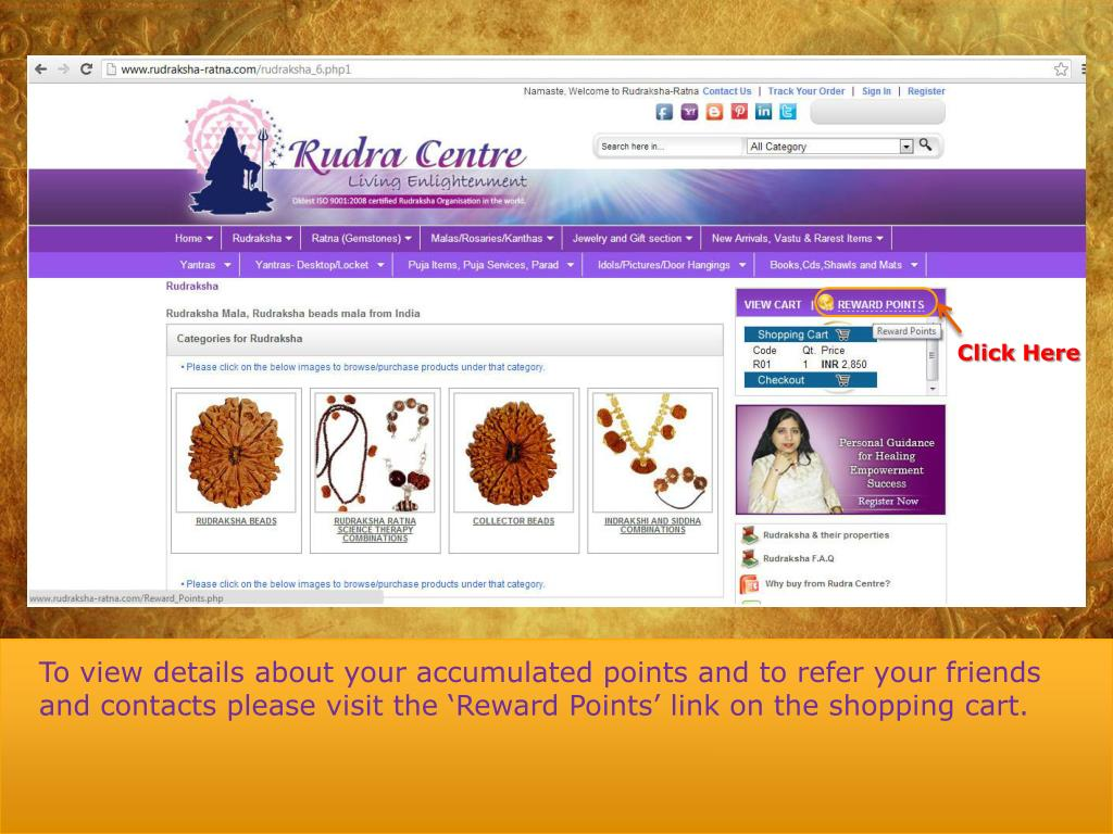 PPT - Welcome To Rudraksha Ratna Reward Points PowerPoint