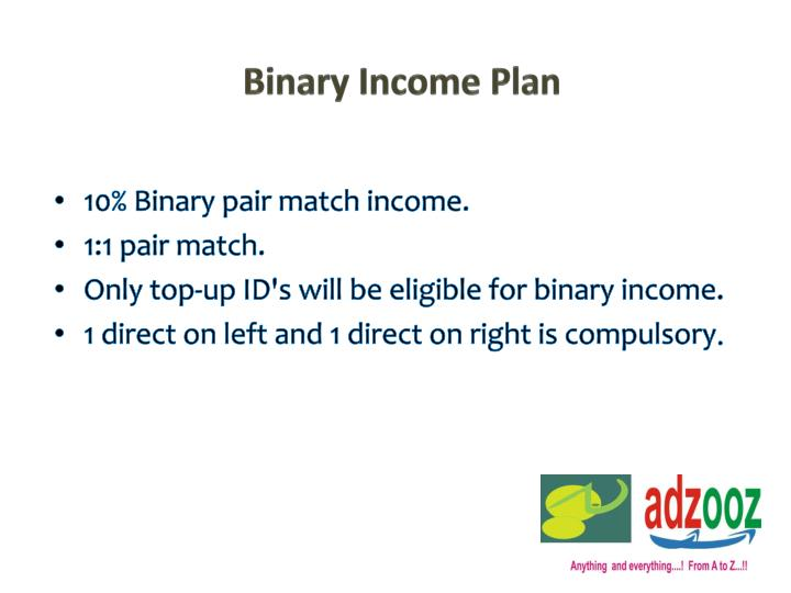 Binary Income Plan