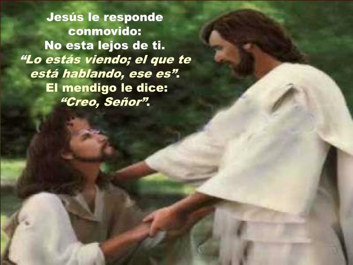 Jesús le responde conmovido: