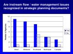 are instream flow water management issues recognized in strategic planning documents