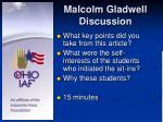 malcolm gladwell discussion