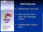self interest