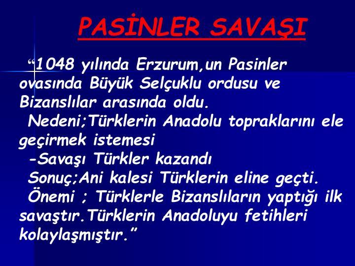 PASİNLER SAVAŞI