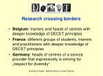 research crossing borders