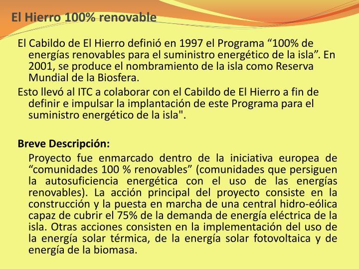 El Hierro 100% renovable