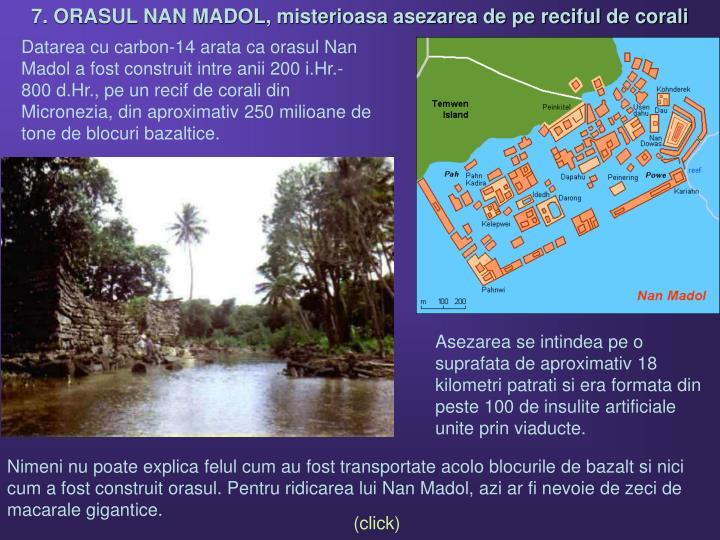 7. ORASUL NAN MADOL, misterioasa asezarea de pe reciful de corali