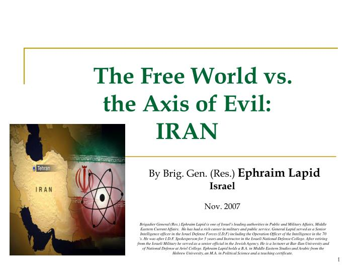The Free World vs. the Axis of Evil:IRAN