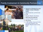 family involvement community partnerships