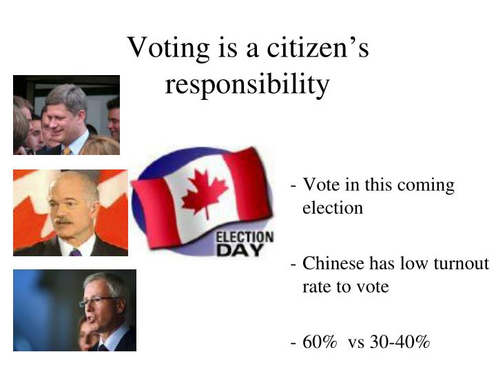 Voting is a citizen's responsibility