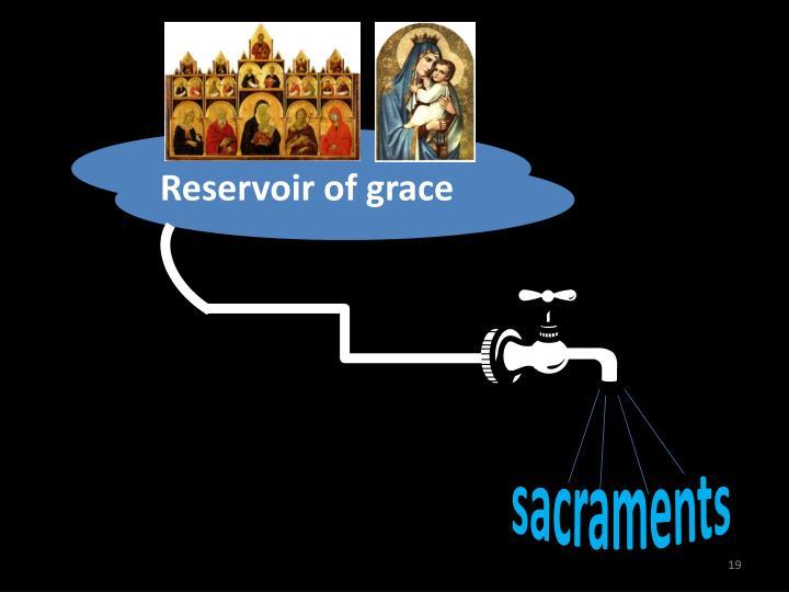 Reservoir of grace