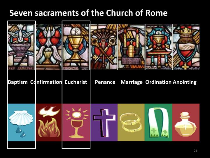 Seven sacraments of the Church of Rome