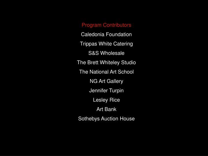 Program Contributors