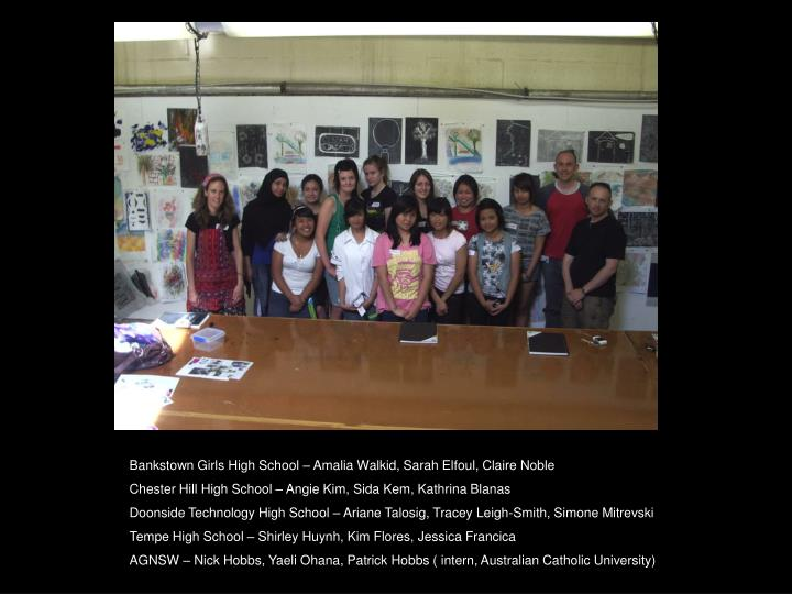 Bankstown Girls High School – Amalia Walkid, Sarah Elfoul, Claire Noble