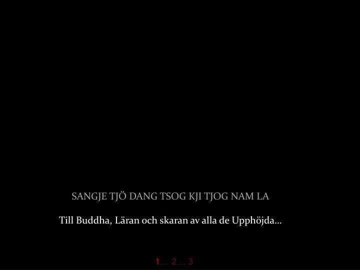 Sangje tj dang tsog kji tjog nam la till buddha l ran och skaran av alla de upph jda