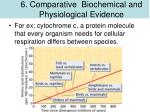 6 comp a r ative biochemical and physiological evidence1
