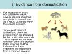 6 evidence from domestication