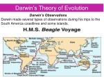 darwin s theory of evolution