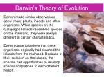 darwin s theory of evolution1