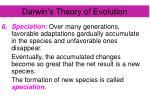 darwin s theory of evolution7
