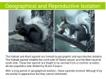 geographical and reproductive isolation1