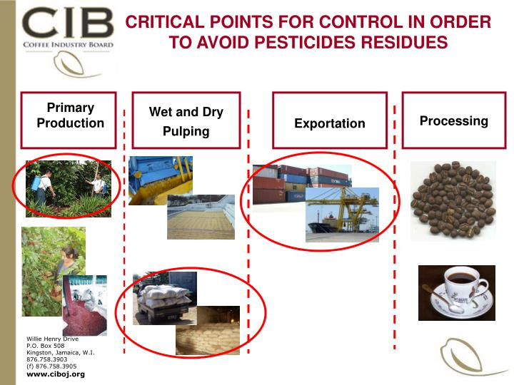 CRITICAL POINTS FOR CONTROL IN ORDER TO AVOID PESTICIDES RESIDUES