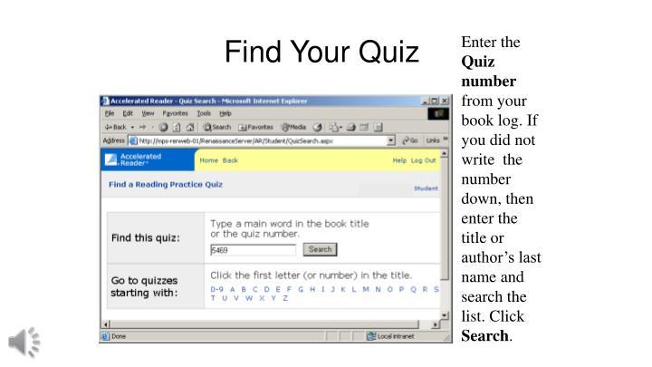 Find Your Quiz