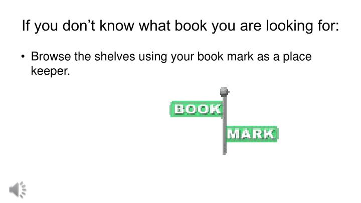 If you don t know what book you are looking for