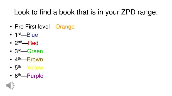 Look to find a book that is in your ZPD range.