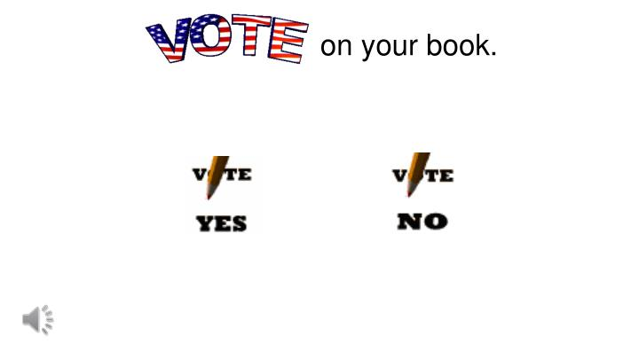 on your book.