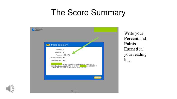 The Score Summary