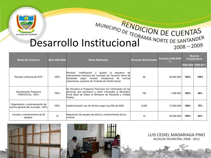 Desarrollo Institucional