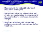 measurements by a microwave radiometer in 2005