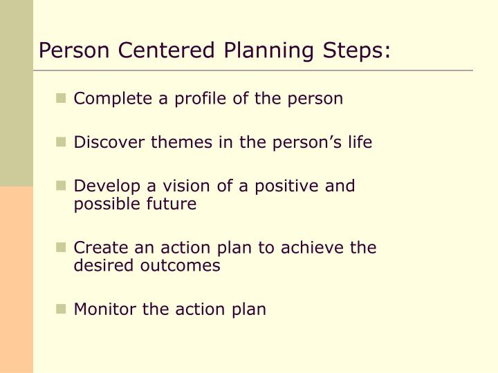 person centred planning