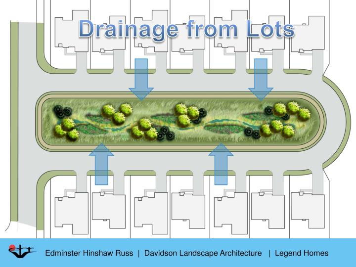 Drainage from Lots