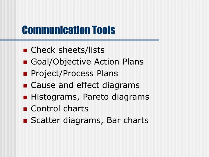 Communication Tools