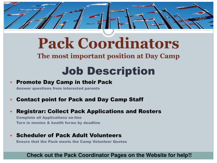 Pack Coordinators