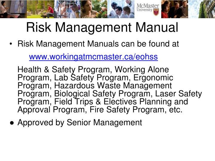 Risk Management Manual
