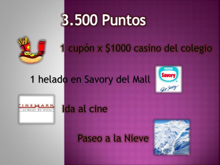 3.500 Puntos
