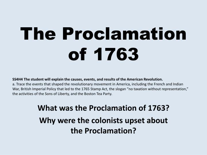 essay on the proclamation of 1763 Unlike most editing & proofreading services, we edit for everything: grammar, spelling, punctuation, idea flow, sentence structure, & more get started now.