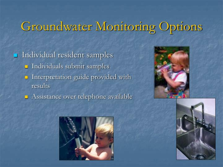 Groundwater Monitoring Options
