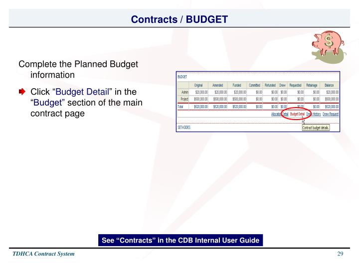 Contracts / BUDGET