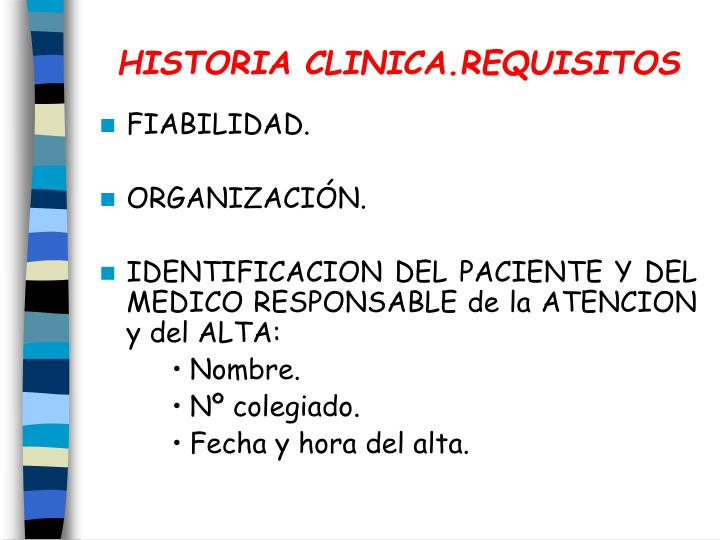 Historia clinica requisitos1