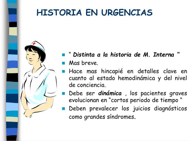 HISTORIA EN URGENCIAS