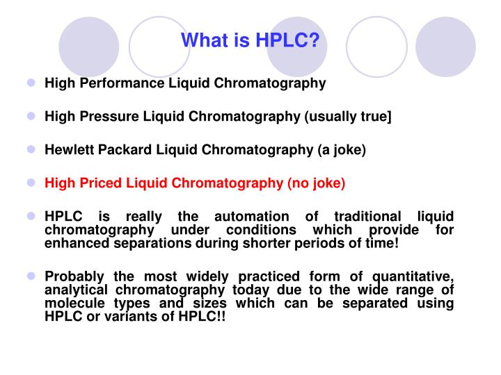 PPT - What is HPLC? PowerPoint Presentation - ID:4924047