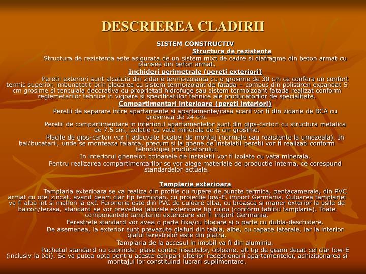 Descrierea cladirii
