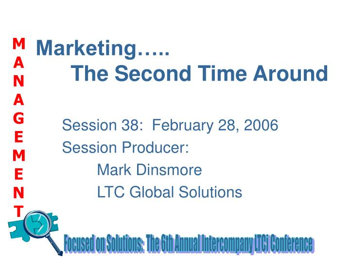 marketing the second time around n.