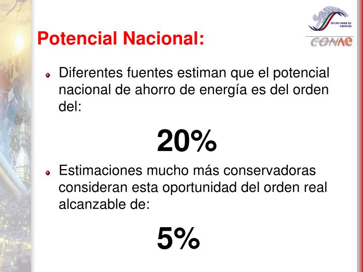 Potencial Nacional: