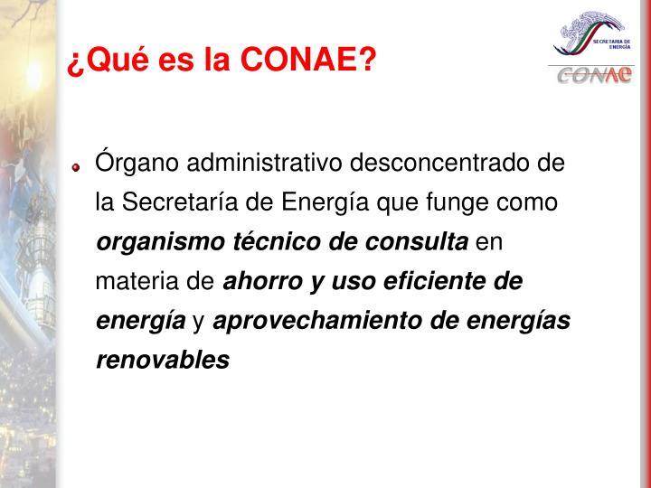 ¿Qué es la CONAE?