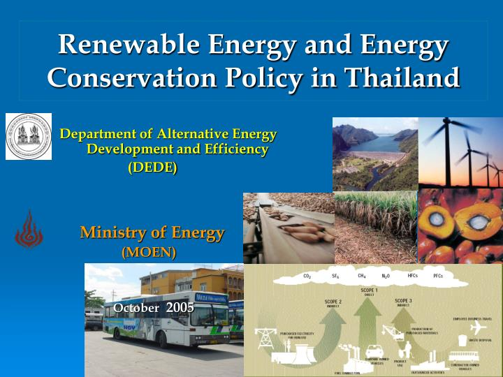 renewable energy and energy conservation policy in thailand n.