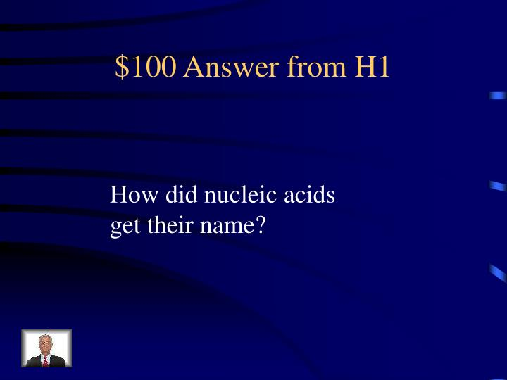 100 answer from h1